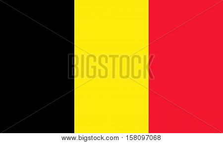 flat belgian flag in the colors black yellow and red