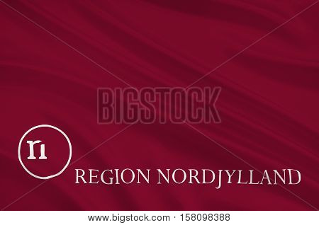 Flag of North Jutland Region of Denmark. 3d illustration