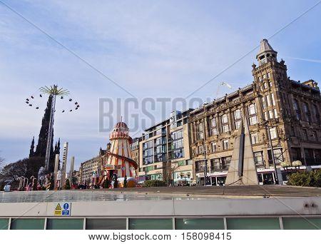 Christmas Market In Edinburgh