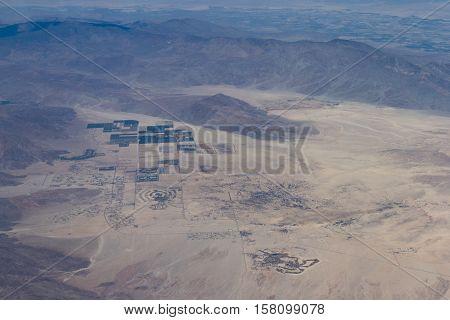 Desert Landscape Form Above