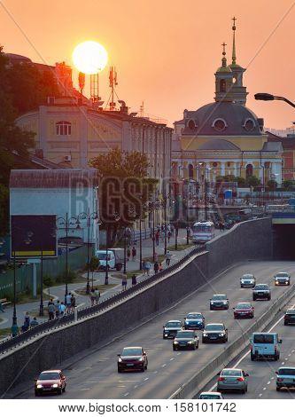 Urban Sunset. Kiev, Ukraine