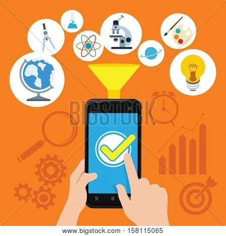 web marketing seo concept illustration design vector