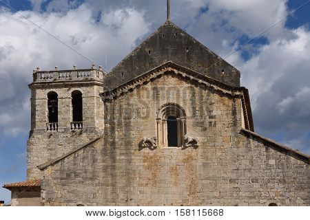 Romanesque monastery of Sant Pere Besalu (X Century) Girona province Catalonia Spain poster