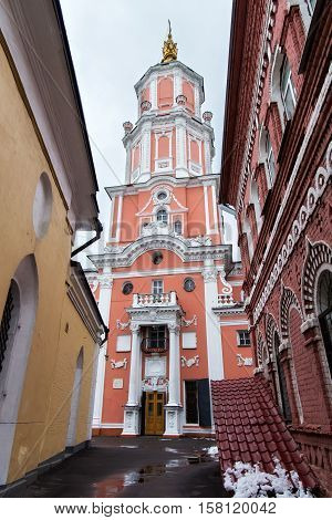 The church of the Archangel Gabriel also known as Menshikov Tower. Church was built in the baroque style in 1707.