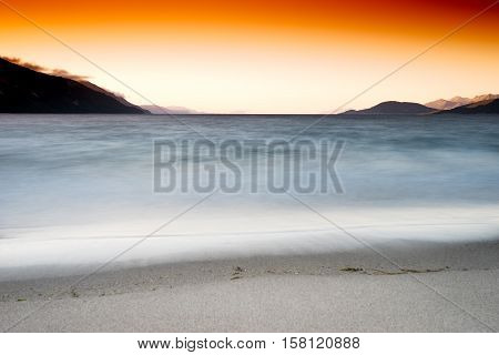 Tidal waves long exposure landscape background hd