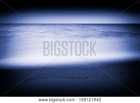 Tidal waves long exposure vignette background hd