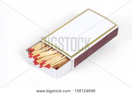 new Matchbox on open box isolate on background