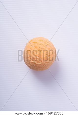 Ice Cream Scoop Or Ice Cream Ball On The Background.