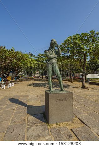 Chopin Monument In Rio