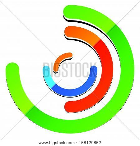 Concentric Circles With Random Lines. Segmented Circles Abstract Symbol, Abstract Logo Shape