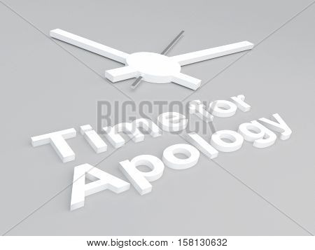 Time For Apology Concept