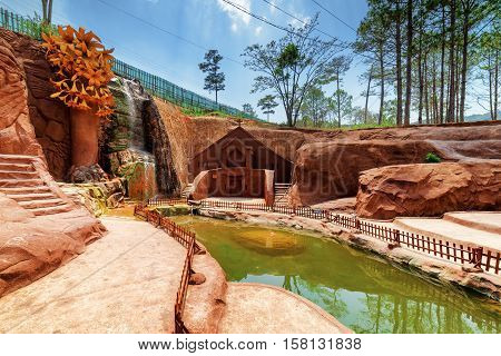 Amazing Canyon With Clay Building Of Church, The Dalat Star