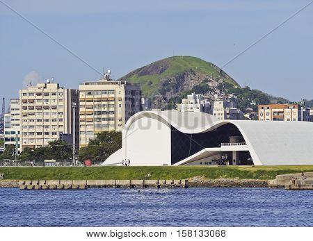 Oscar Niemeyer Theatre In Niteroi