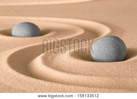 spirituality stone and sand zen garden. Harmony balance and purity fro meditation and relaxation