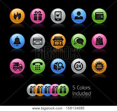 E-Shop Icons / The file Includes 5 color versions in different layers.