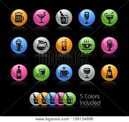 Drinks Icons / The file Includes 5 color versions in different layers.