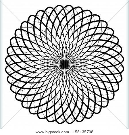 Geometric Circular Element - Rotating Spiral, Swirl Shape
