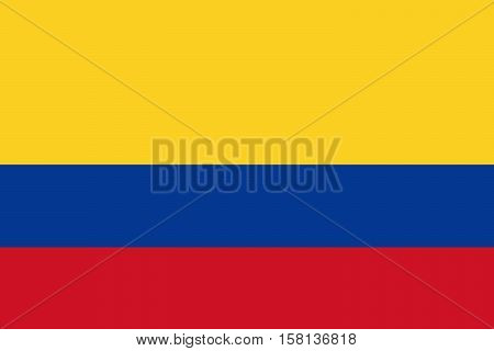 Official vector flag of Colombia . Republic of Colombia .
