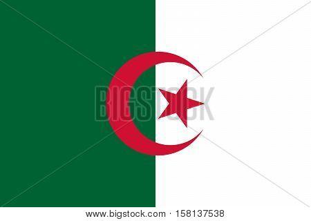 Official vector flag of Algeria . People's Democratic Republic of Algeria .