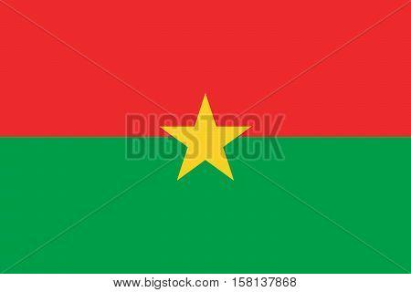 Official vector flag of Burkina Faso .