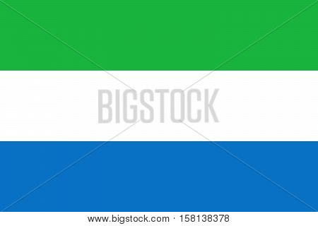 Official vector flag of Republic of Sierra Leone .