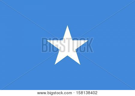 Official vector flag of Somalia . Federal Republic of Somalia .