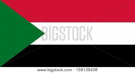 Official vector flag of Sudan . Republic of the Sudan .