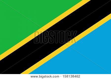 Official vector flag of Tanzania . United Republic of Tanzania .