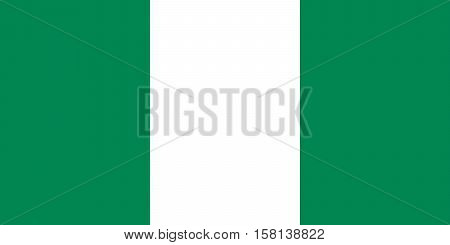 Official vector flag of Federal Republic of Nigeria .