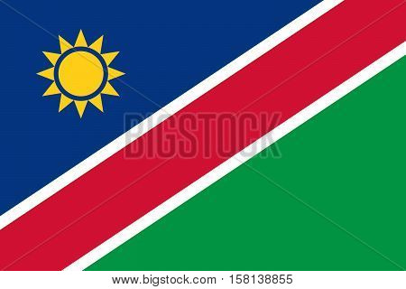 Official vector flag of Namibia . Republic of Namibia .