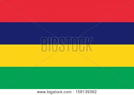 Official vector flag of Republic of Mauritius .