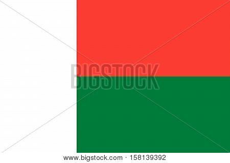 Official vector flag of Madagascar . Republic of Madagascar .