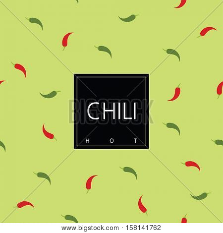 Chili package design element. Template. Seamless pattern - swatch included.