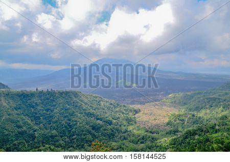Kintamani Batur Volcano the place of interest in Bali Indonesia