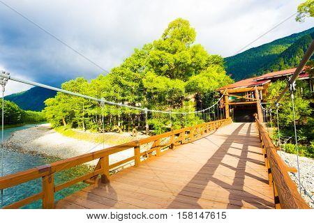 Kamikochi Kappa Bashi Bridge Winding River Morning