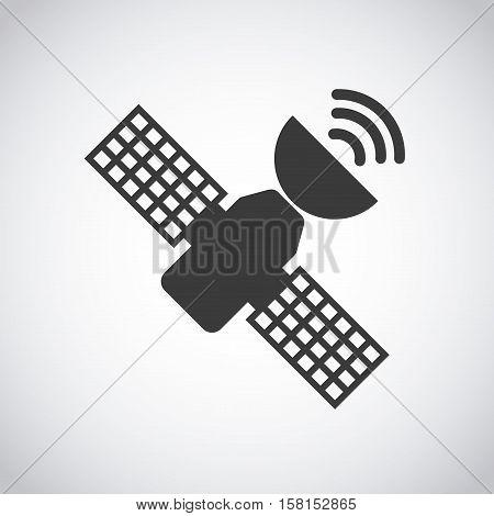 satellite antenna device icon over white background. vector illustration