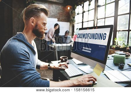 Crowd funding Money Business Enterprise Graphic Concept
