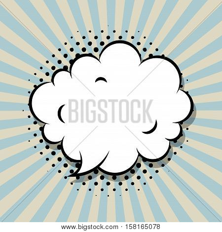 speech bubble icon. comic and pop art concept. colorful design. vector illustration