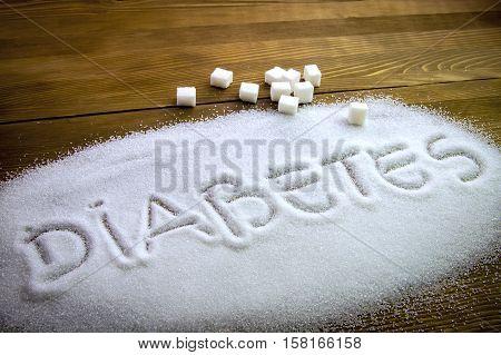 Diabetes Written On Sugar