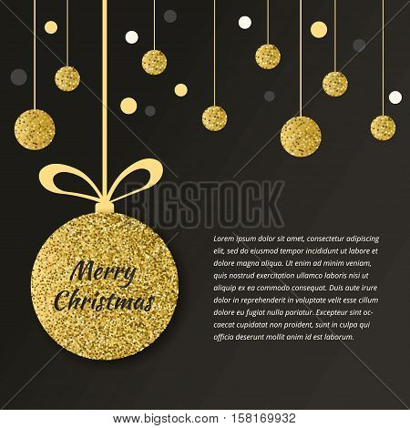 Christmas Ball Gold
