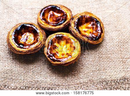 Pastel de nata portuguese traditional creamy pastry. Egg Tart