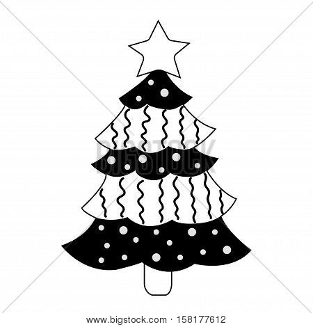 Christmas tree on white background vector illustation