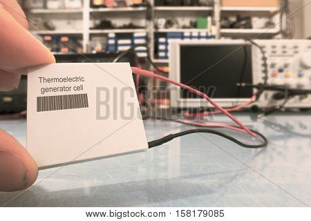 A Thermoelectric generator is a solid state device that converts heat  into electrical energy. Toned Image This self-made labels with barcodes