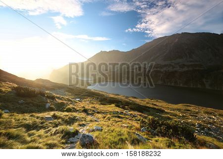 Valley of Five Polish Ponds in the Tatra Mountains.