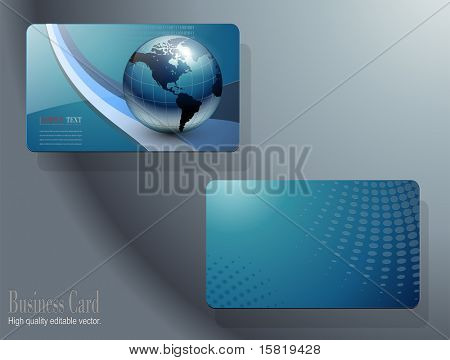 business card template design, vector.