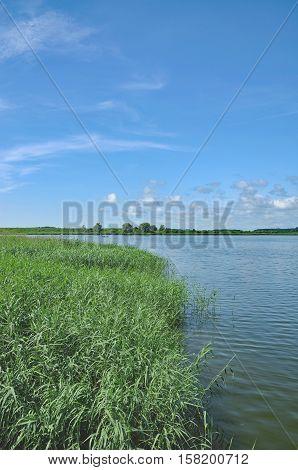 Peene River on Usedom at baltic Sea in Mecklenburg western Pomerania,Germany