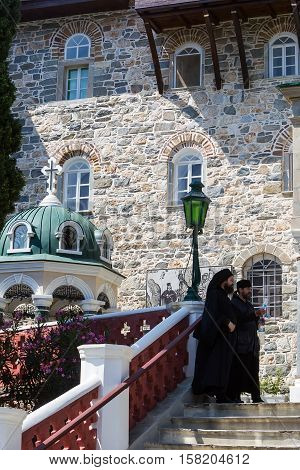 Russian St. Pantaleon Orthodox Monastery At Mount Athos
