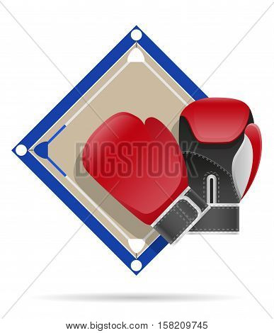 boxing ring vector illustration isolated on white background