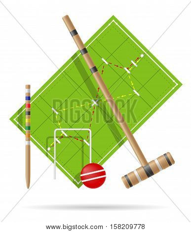 playground for croquet vector illustration isolated on white background