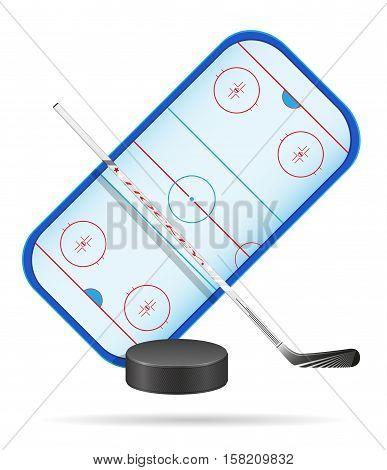 hockey stadium vector illustration isolated on white background